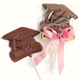 Chocolate Graduation Cap and Diploma Favor