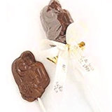 Chocolate Bride and Groom Lollipop