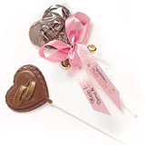 Chocolate Wedding Rings Lollipop