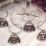 Dazzling Divas collection Handbag wine charms