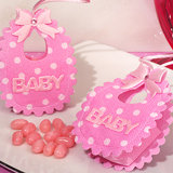Adorable pink Baby bib bag / holder