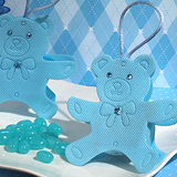 Cute blue Teddy Bear bag / holder