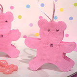 Cute pink Teddy Bear bag / holder