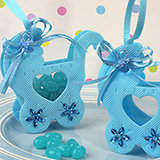 Adorable blue baby carriage bag / holder