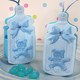 Cute blue baby bottle bag / holder