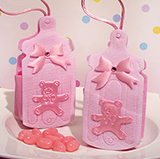Cute pink baby bottle bag / holder