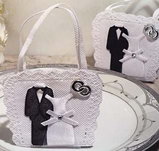 Bride and Groom bag / holder