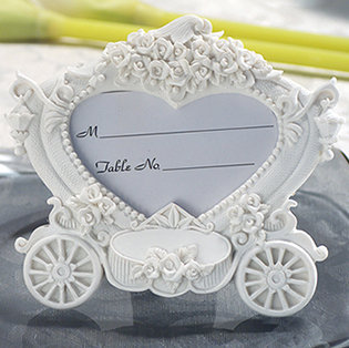 Enchanting wedding coach photo frame