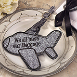 """We all have baggage"" Silver Airplane luggage tag"