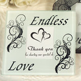 Our Endless love glass coasters