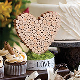 Rustic Heart Table Decor