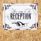 Vintage This way to Reception Yard Sign