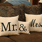 Mr. Linen Throw Pillow