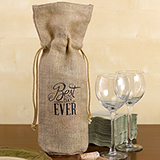 Burlap Wine Bag -Best Day Ever