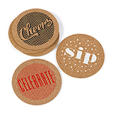 Celebrate Cork Coaster Set. Package of 24.