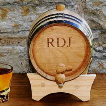 Personalized Mini-Oak Whiskey Barrel