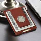 Leather Wallet & Money Clip - Brown