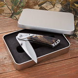 Camo Deluxe Lock Back Knife ( in tin case)