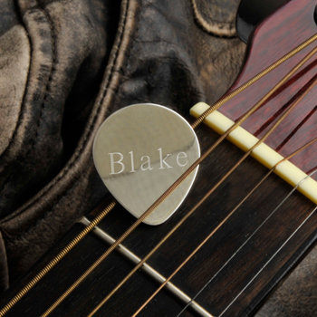 Personalized Sterling Guitar Pick