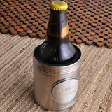 Brushed Koozie with Pewter Medallion