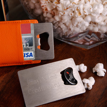 Personalized Credit Card Bottle Opener