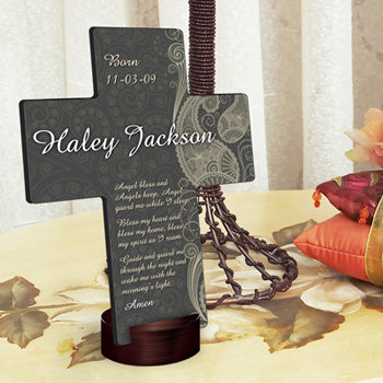 Personalized Paisley Praise Cross