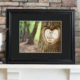 Personalized Tree of Love Print with Wood Frame