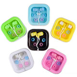 Colored earbuds with case - Random Color Assortment