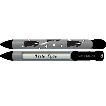 PERSONALIZED Bride and Groom Silhouettes Pen