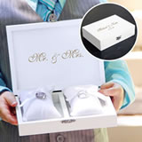White Ring Bearer Pillow Box