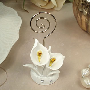 Deluxe Placecard Holder Calla Lily Design