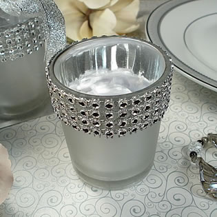 Bling Silver Tealight Candle Holder