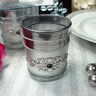 Black Deco Tealight Candle Holder