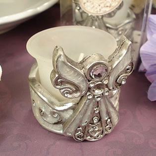 Angel Tealight Candle Holder White Epoxy
