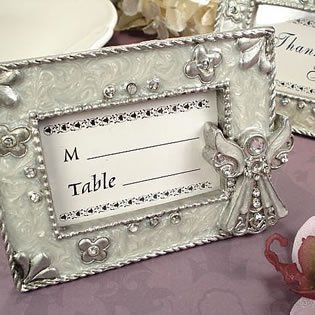 Angel Placecard Frame White Epoxy