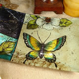 Small Deco Platter Butterfly Design