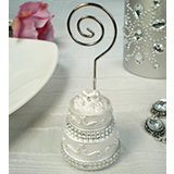 Wedding Cake Placecard Holder Bling Design
