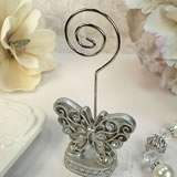 Antique Silver Design Butterfly Placecard Holder