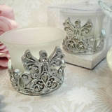 Antique Silver Design Angel Tealight Candle Holder