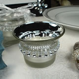 Bling 2 Tone Silver Tealight Candle Holder