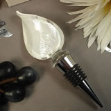 Murano Design Bottle Stopper White Shimmer