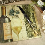 Cheese Board With Knife Tuscan Wine Design