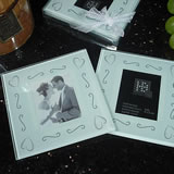 2 Piece Glass Photo Coaster Set Swirl
