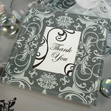 Grey/White Damask Photo Coaster Set 2