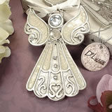 Angel Hanging Ornament White Epoxy