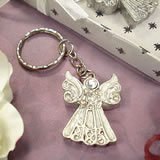 Angel Keychain White Epoxy