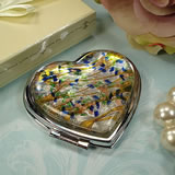 Murano Heart Shape Compact Speckle