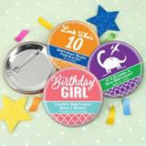 "Kids Birthday Buttons (2.25"")"