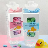 Baby Bottle Hanger Favor Boxes