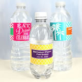 Adult Birthday Water Bottle Labels (Set of 5)